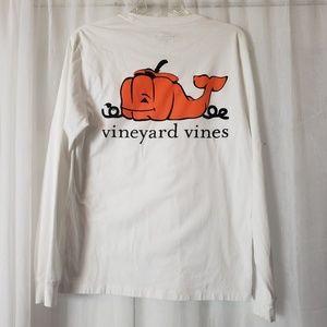 Vineyard Vines Pumpkin T Shirt Long Sleeve size XS